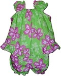 176-3539 Green Pacific Legend Infant Romper Set